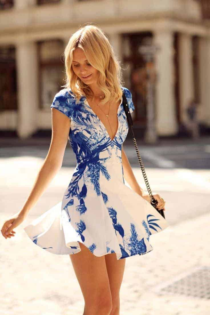 Blue and White Colorful dresses for Sping and Summer