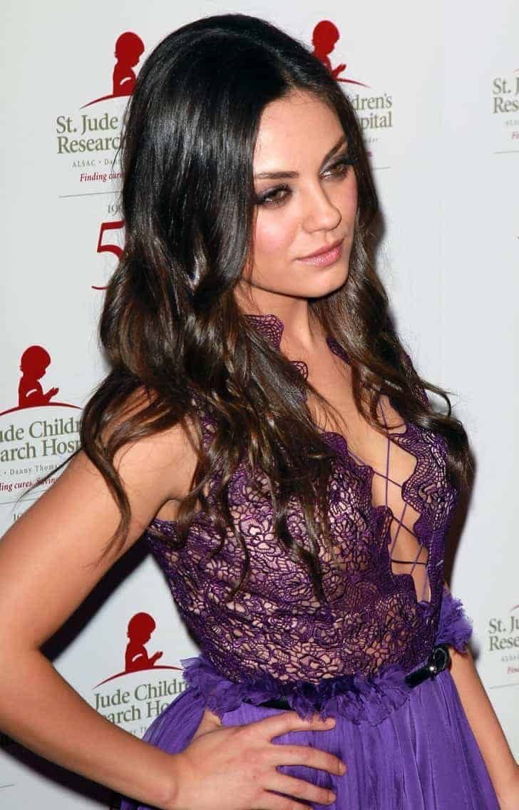 Mila kunis purple dresses