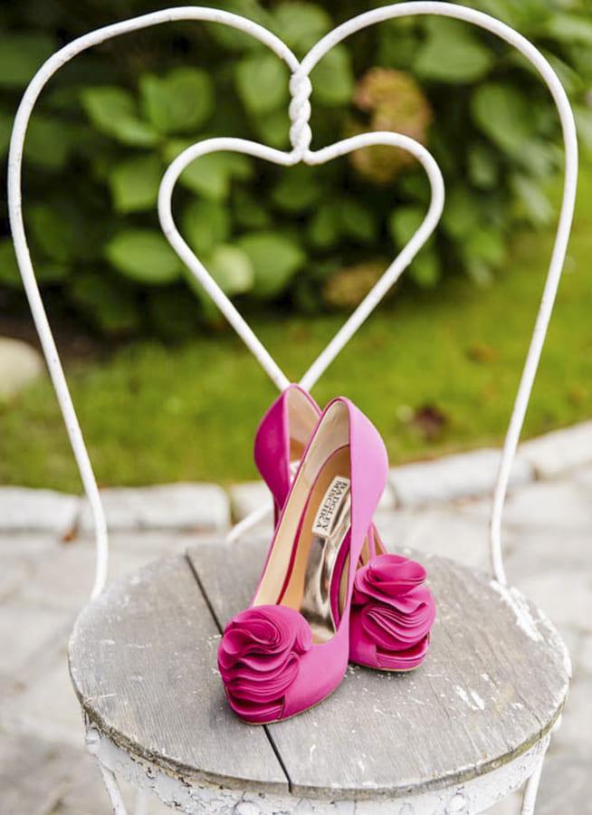 pink bride shoes
