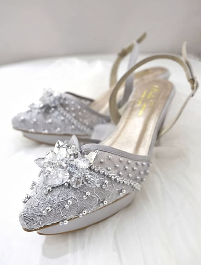 silver wedding shoes (1)