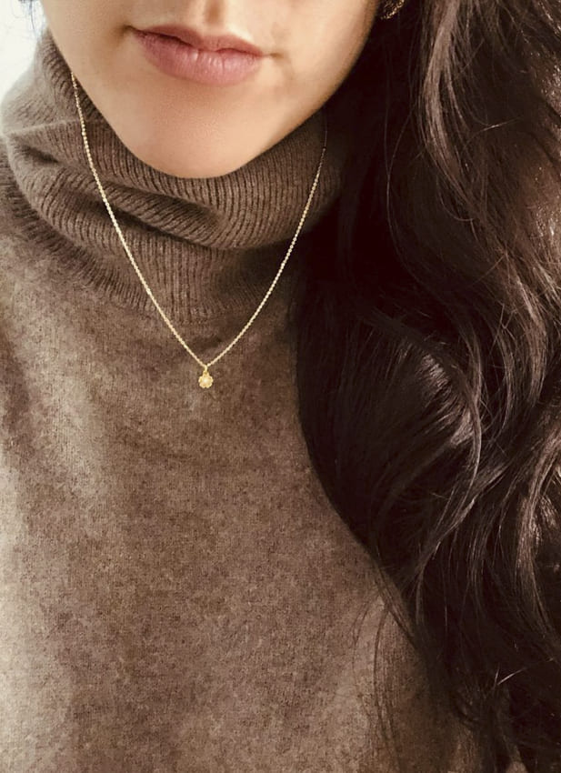 simple gold necklace (3)