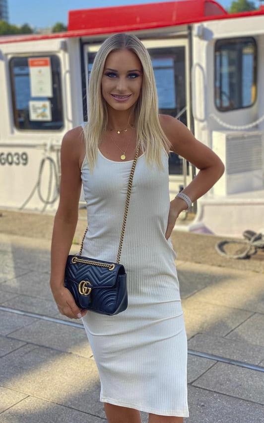 white slip dress