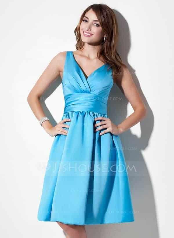 Autumn Fashion Special occasion dresses Blue Color