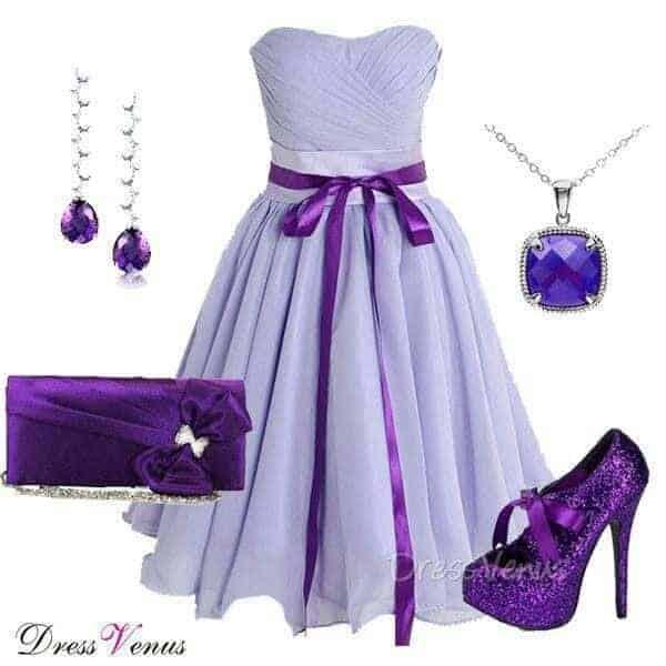 Autumn Fashion Special occasion dresses Purple Color