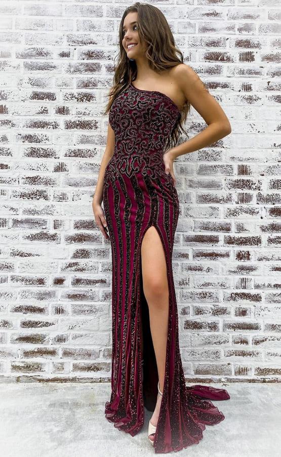 one shouldered formal dresses
