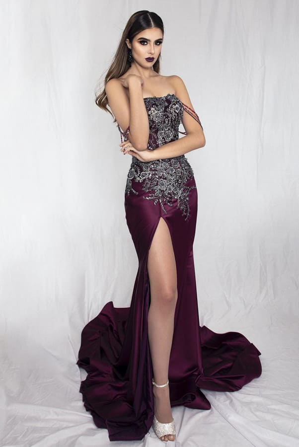 wine colored formal dresses