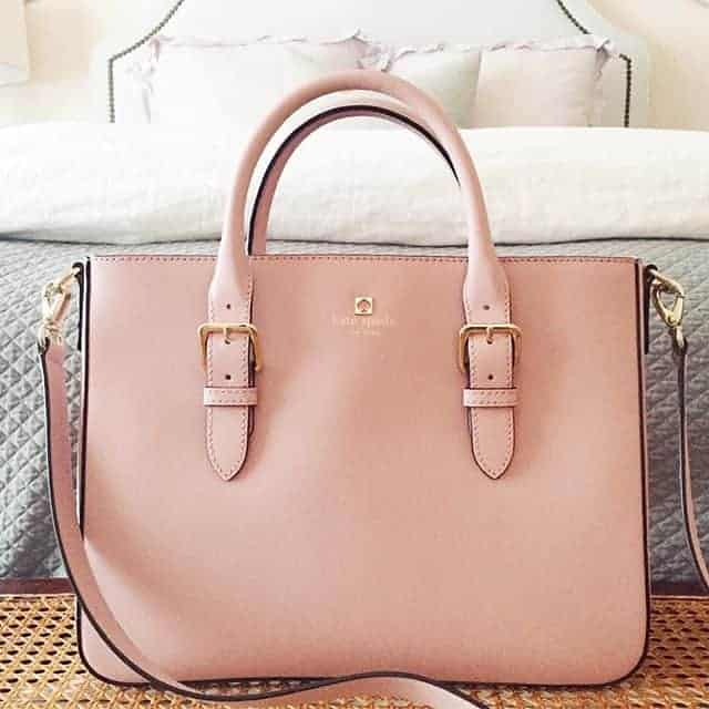 Elegantly designed light pink bag design