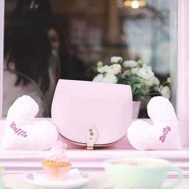 Pale pink bag for young ladies