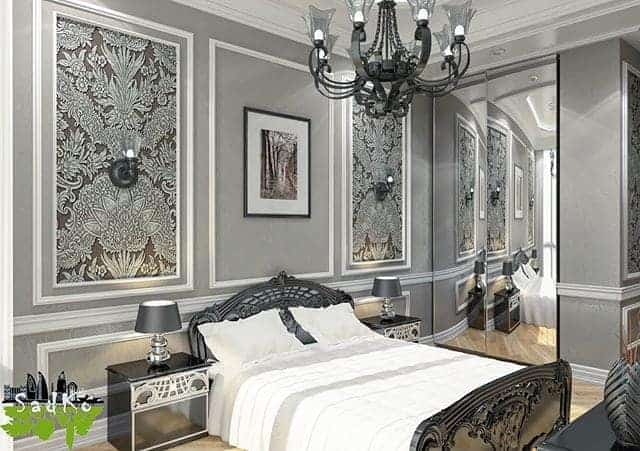 Avant garde dark color Bedroom design