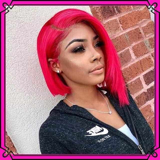 Short Bob Hairstyles Red Color For Black Women