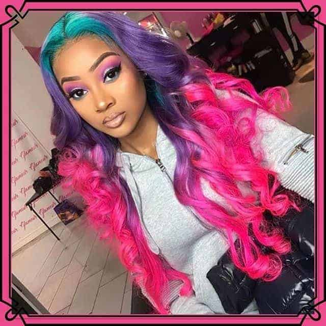 Rainbow Color Hairstyles for Black Women