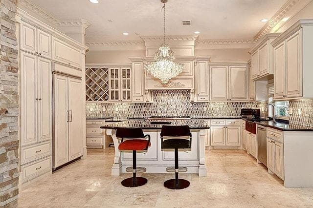 Stylish and expensive kitchen model