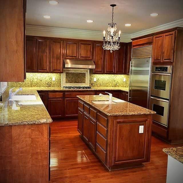 Dark kitchen design models