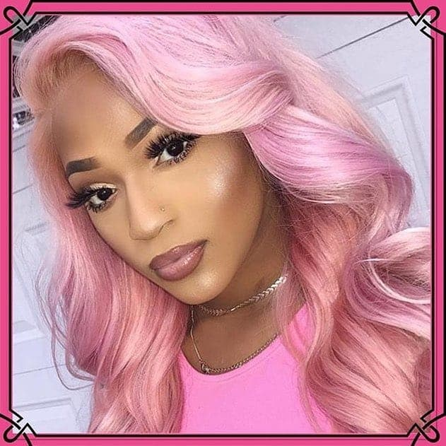 Soft Pink Hairstyles For Black Women