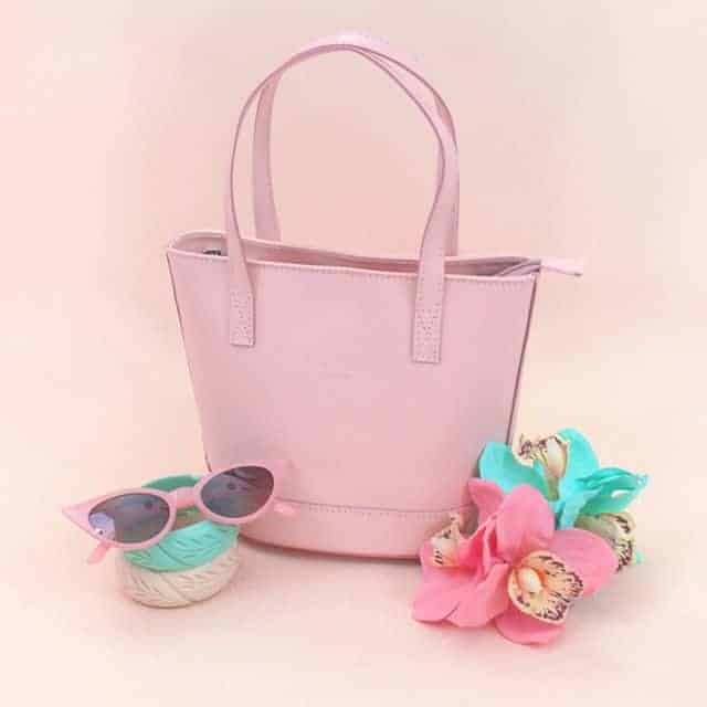 Large pink bag with stylish design