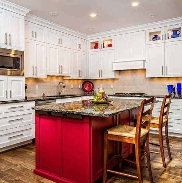 Kitchen interior design in different colors