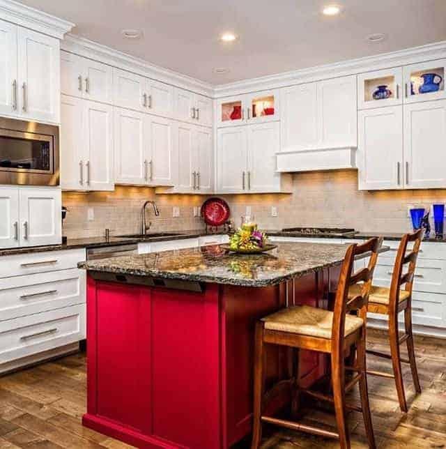 Kitchen interior design in different colors