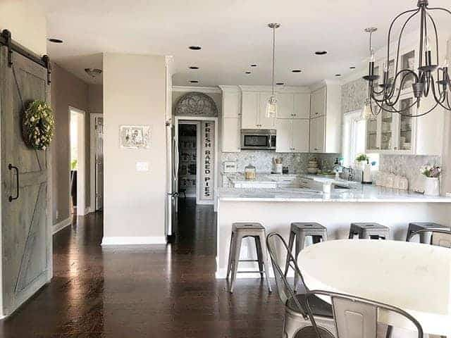 Large kitchen interior design