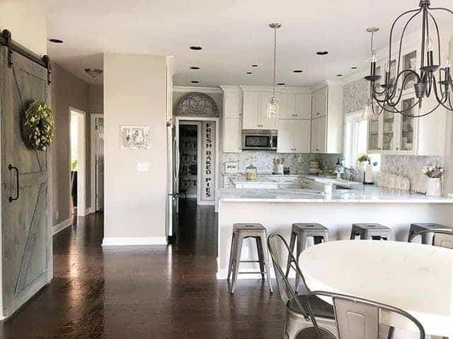 Large kitchen interior design