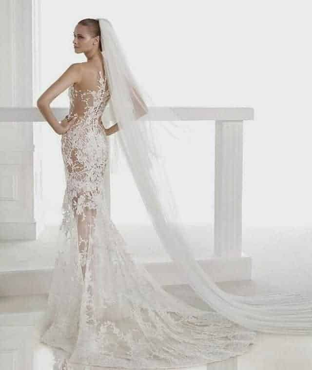 Long Pencil Wedding Dresses