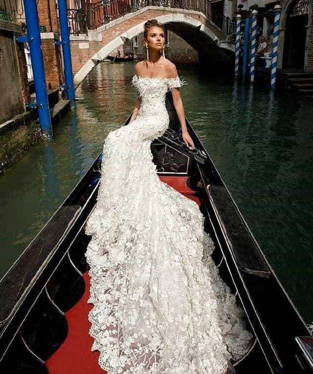 Long Skirt Wedding Dress in Venice