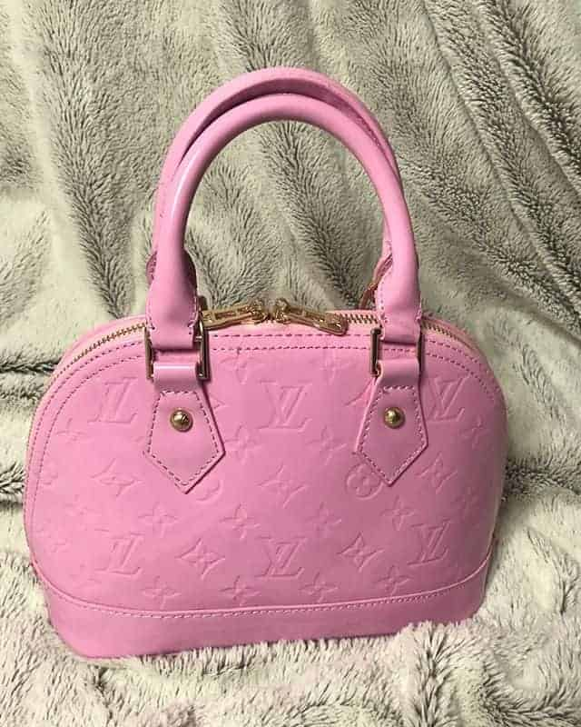 large hanging pink bag