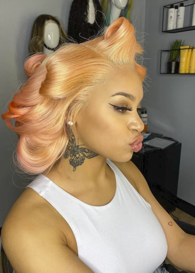 Lovely Colors hairstyles for Afro Black Women (3)
