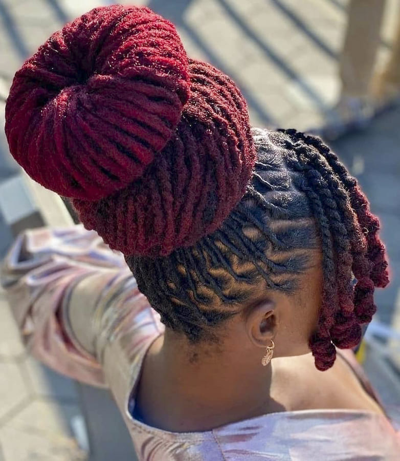Lovely Colors hairstyles for Afro Black Women (6)