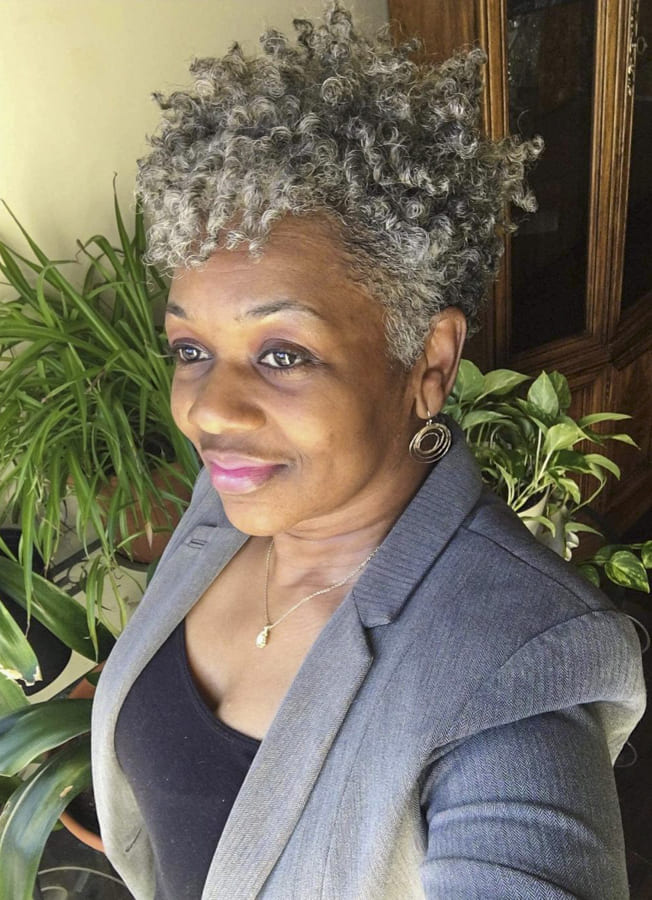 black women with grey hair