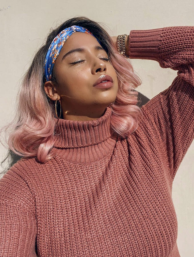 black women with pink hair