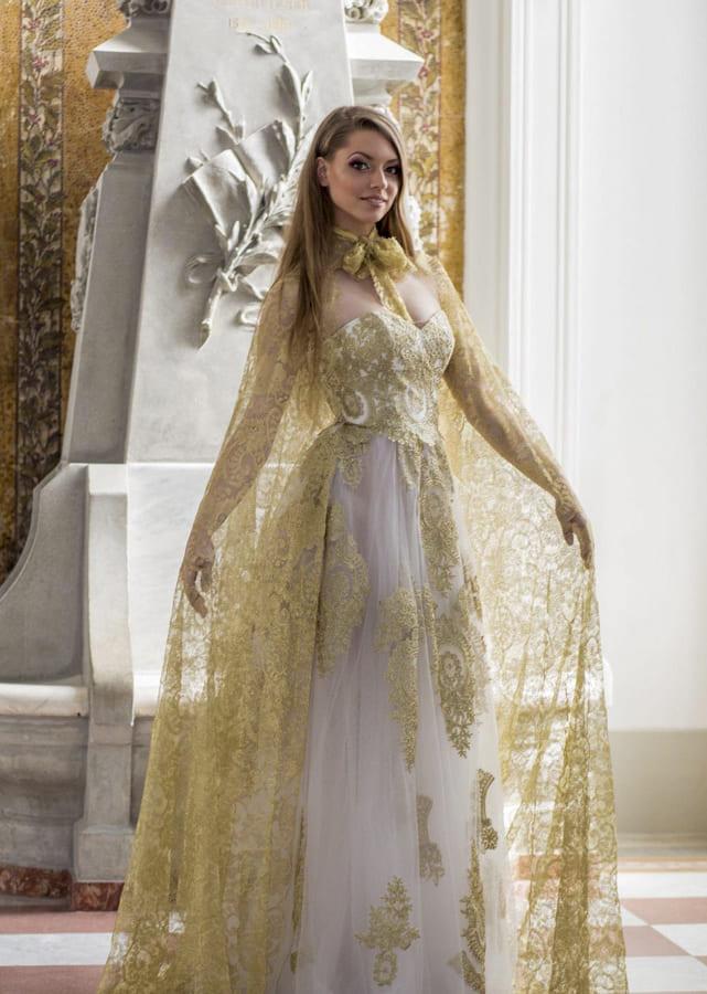 gold wedding dresses 2