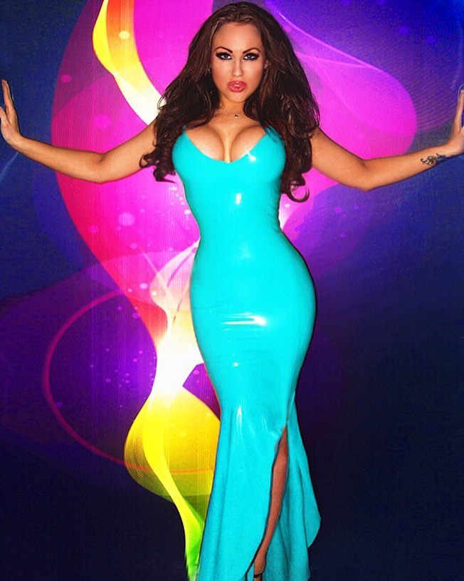 Long turquoise Leather Dresses