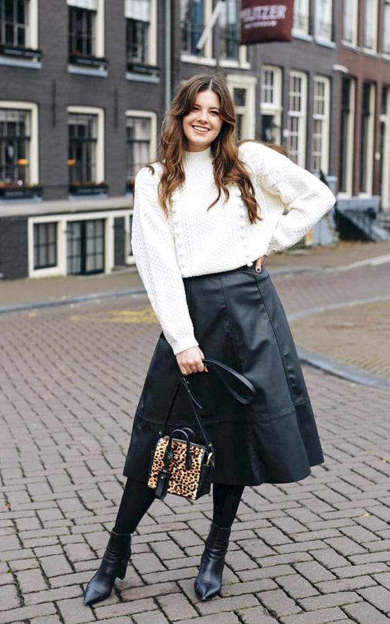 leather skirt outfit (1)
