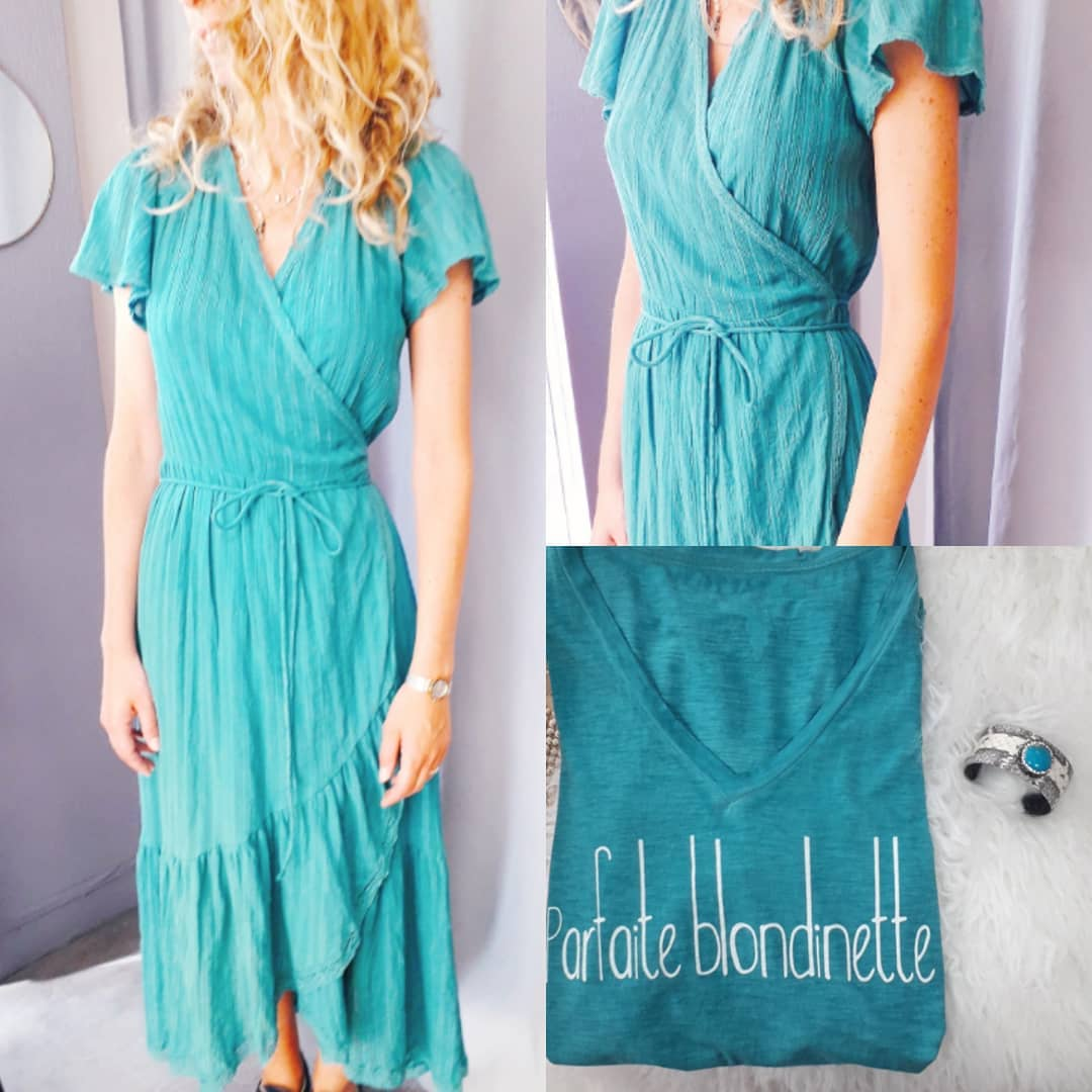 Turquoise dress to wear at home everyday