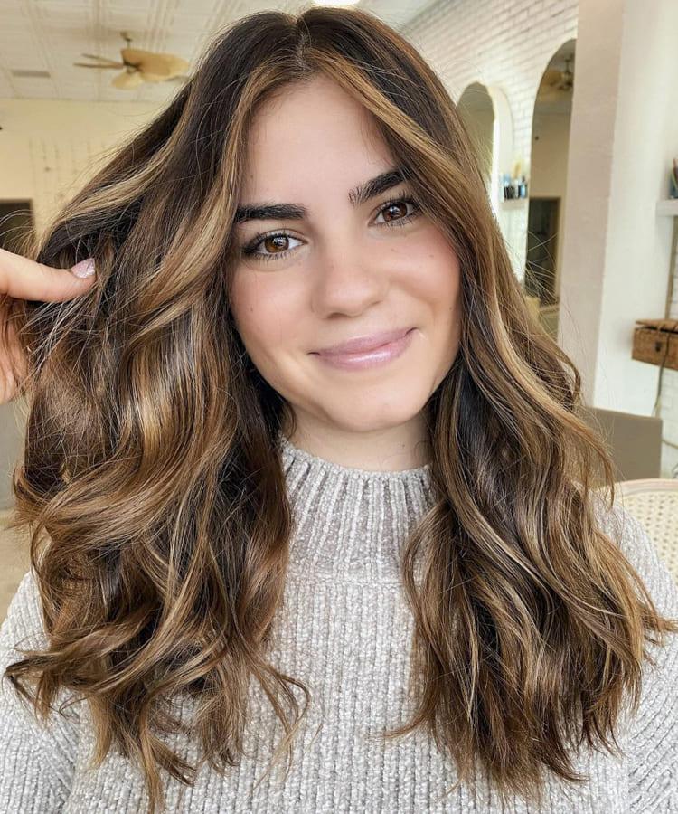 medium golden brown hair