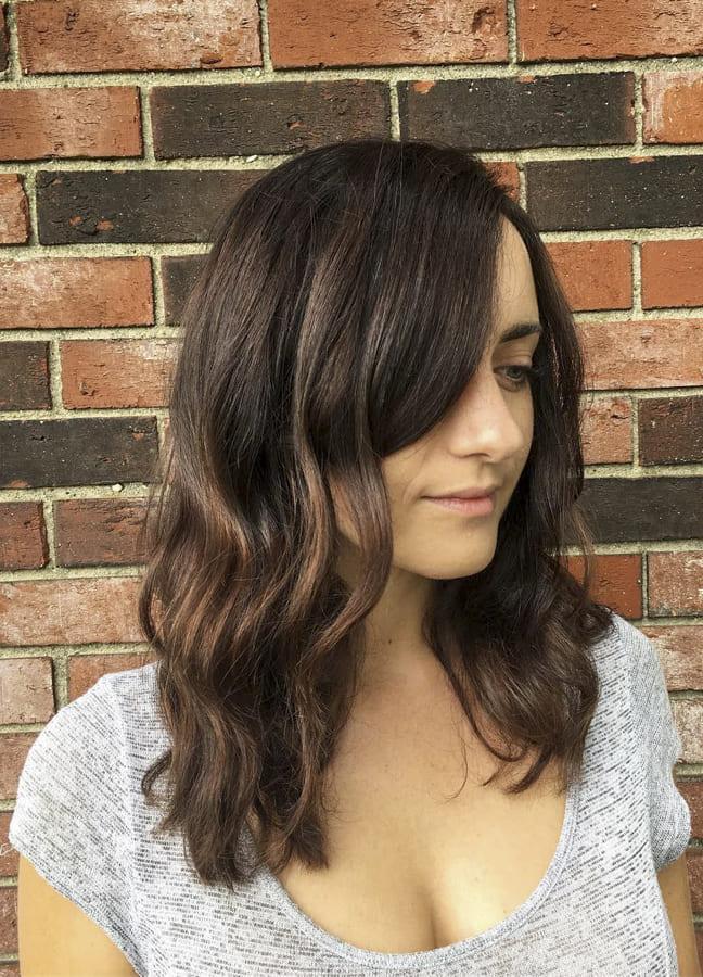 medium hair with side bang 2