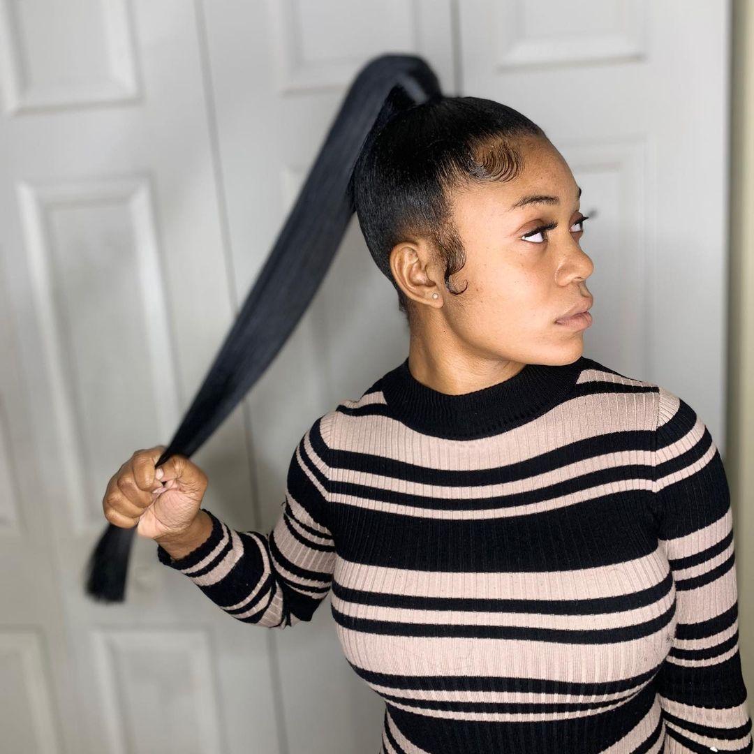 ponytail black women hair