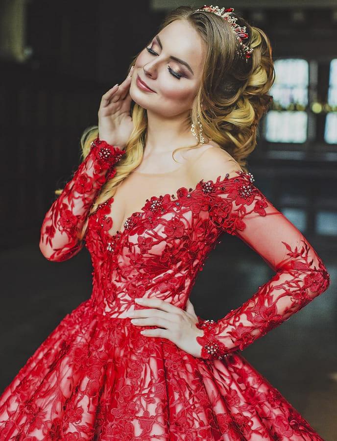 red wedding dresses (1)