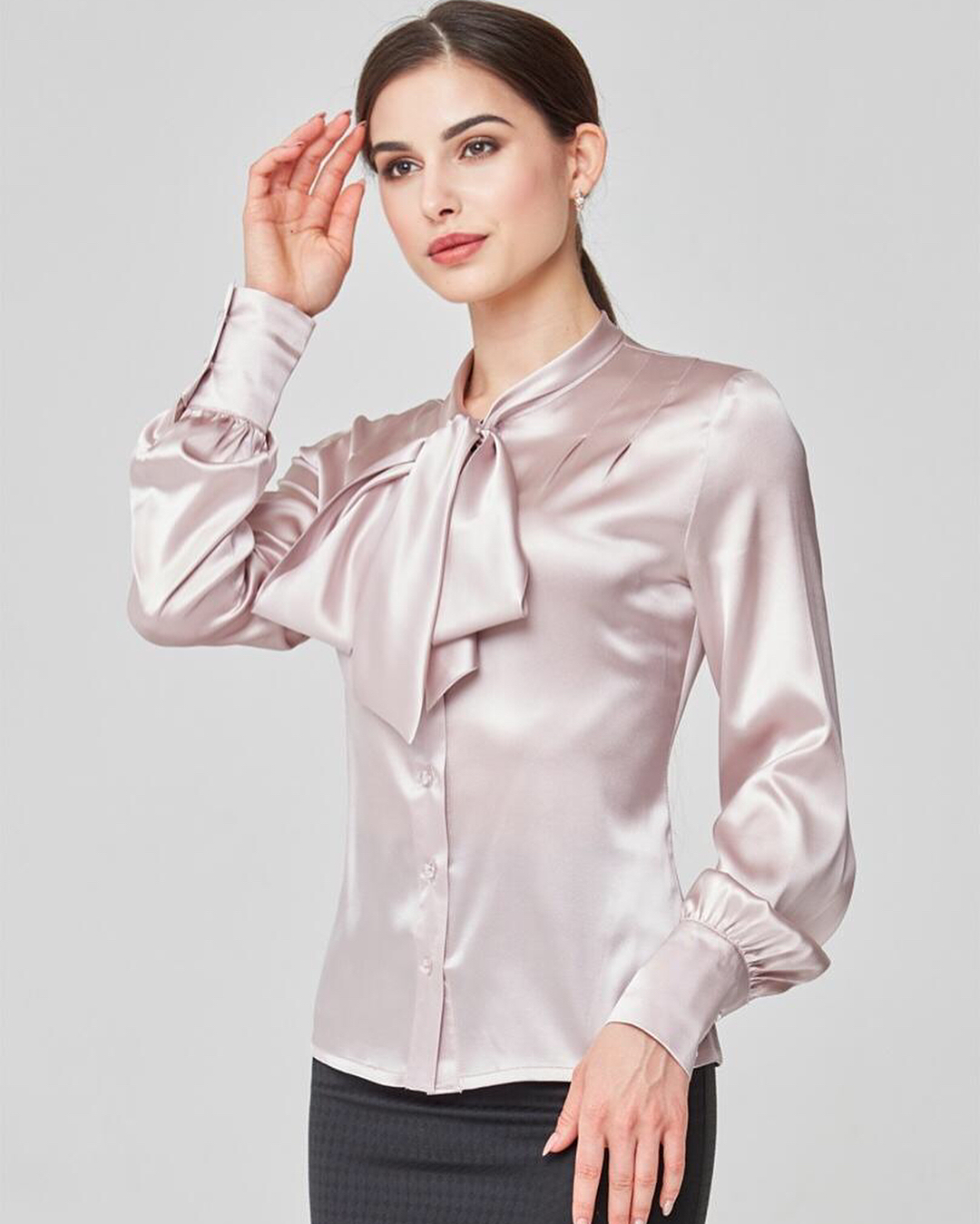 silk blouse for business trips