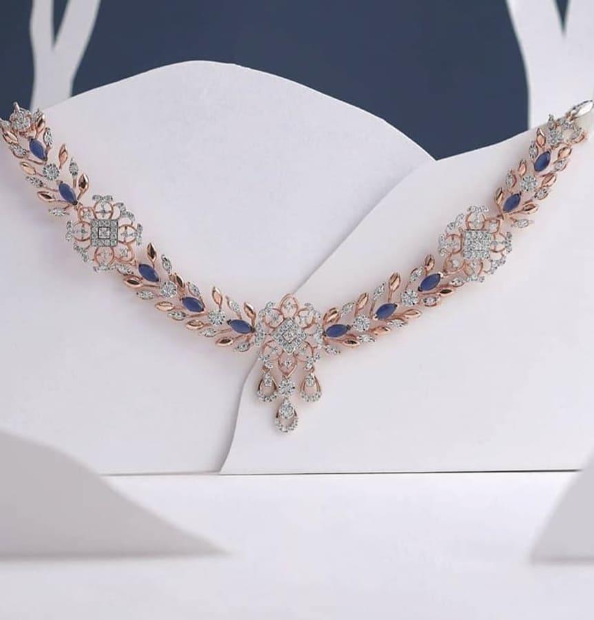 rose gold diamond necklace (3)