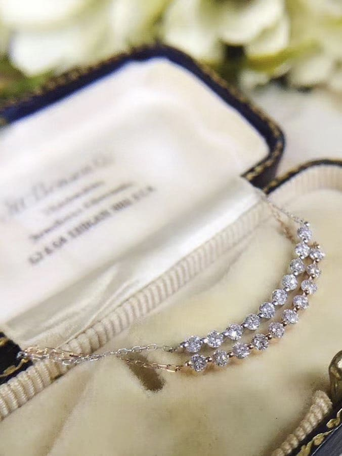 rose gold diamond necklace (4)