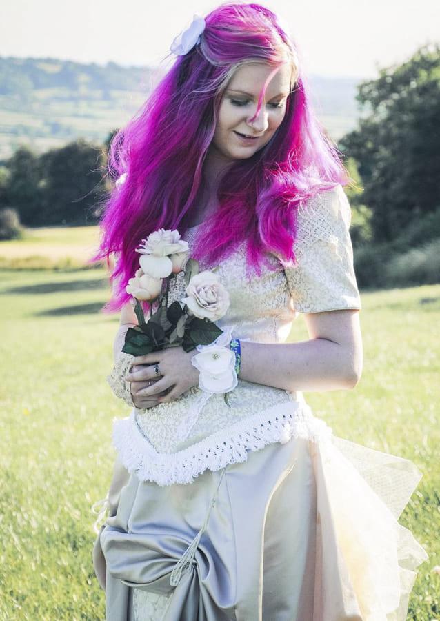 steampunk wedding dress 2