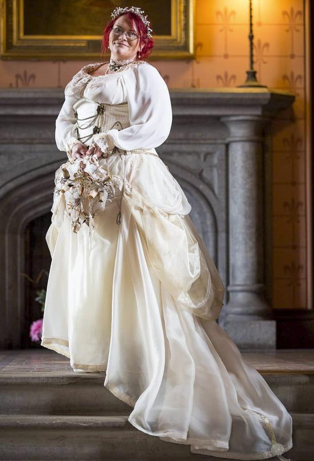 steampunk wedding dress