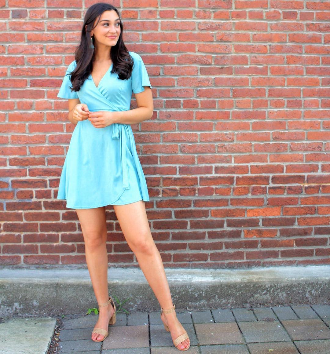 Turquoise dress suitable for daily use