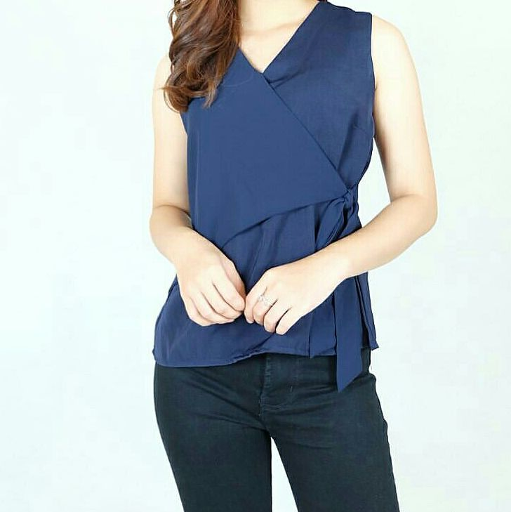 Blue Color SAtin work blouse