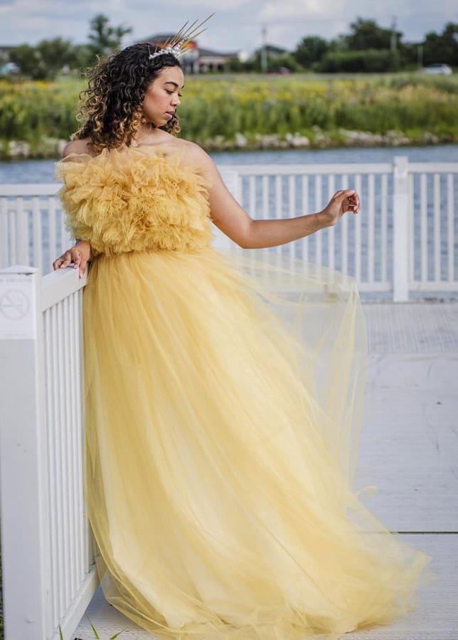 yellow wedding dress 2
