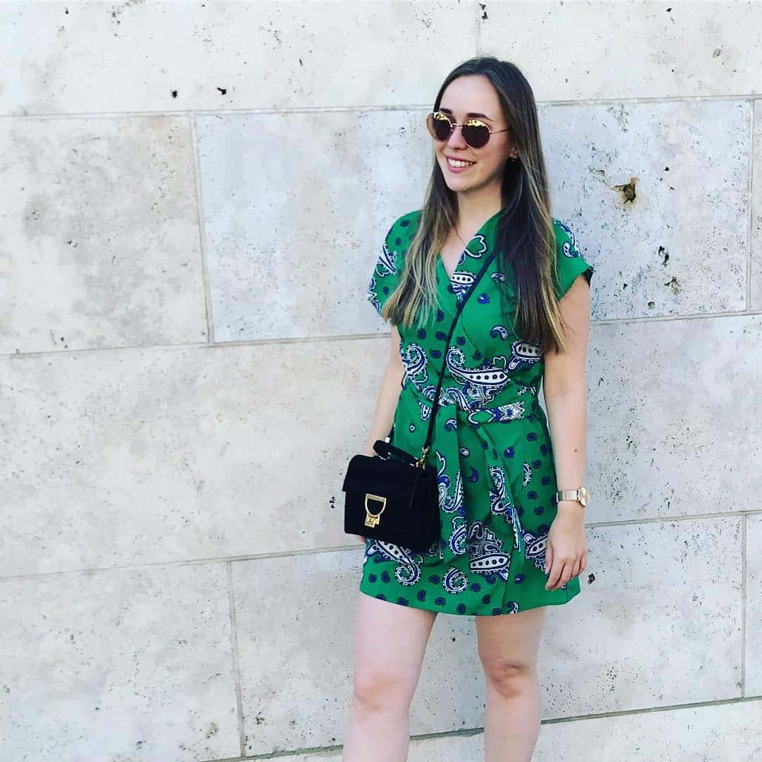 Green dress for simple lovers