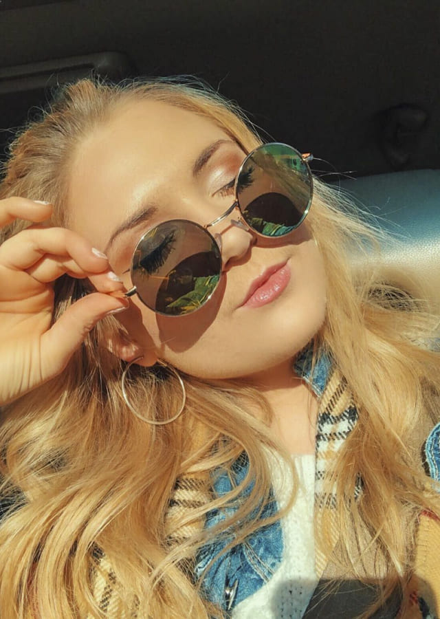 New circle sunglasses