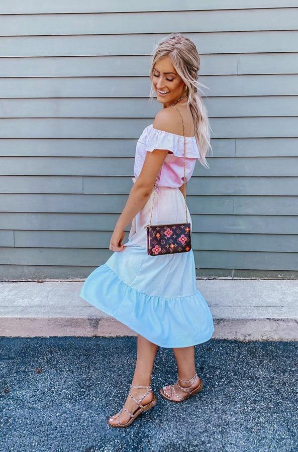 Glamour strapless summer dress