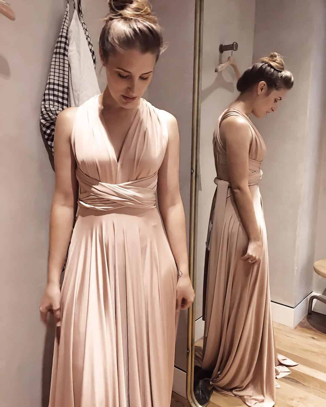 Cream color, Long night dresses